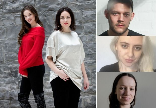 Fashion (clockwise from main) Niamh McCormack and Ciana March; Colin Horgan; Danielle McGregor; and Naoise Farrell. Photograph: Alan Betson