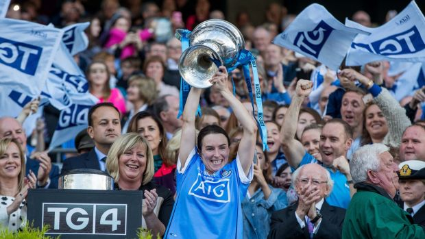 Sinead Aherne is hoping Dublin can retain the Brendan Martin Cup. Photograph: Morgan Treacy/Inpho