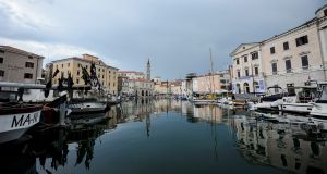 The marina in the Slovenian  town of Piran: there was a bitter 26-year-old territorial dispute involving principally 7.3sq m of maritime territory in the  bay. Photograph: Jure Makovec/AFP/Getty Images