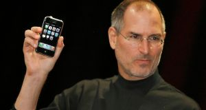 The late Steve Jobs unveils the iPhone: Apple used to really innovate. Photograph:  Tony Avelar/AFP/Getty Images
