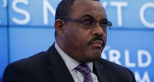 "Ethiopian prime minister Hailemariam Desalegn has said the pardoning of  dissident politicians was intended to ""foster national reconciliation"". File photograph: Matthew Lloyd/Bloomberg/Getty Images"