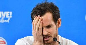 Andy Murray has returned to London after pulling out of the Australian Open. Photograph: Darren England/EPA