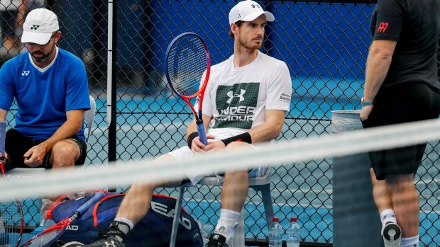 Andy Murray hasn't played since last year's Wimbledon due to a hip problem. Photograph: Glenn Hunt/EPA