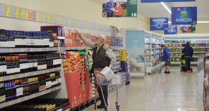 Aldi sales reached a record in the UK and Ireland last month. Photograph: Alan Betson