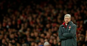 Arsène Wenger has labelled the penalty awarded to Chelsea in Wednesday night's 2-2 draw 'farcical.' Photograph: Adrian Dennis/AFP
