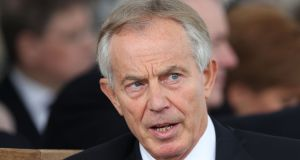 "Former British prime minister Tony Blair told BBC Radio 4: ""Here's a story that is literally an invention and is now half way around the world with conspiracy theories attached to it. That's modern politics.""  Photograph:  Jonathan Brady/PA Wire"