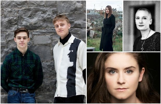 TV (from left clockwise): Dafhyd Flynn and Jacob McCarthy; Aoife McArdle, Nora Twomey and Judith Roddy