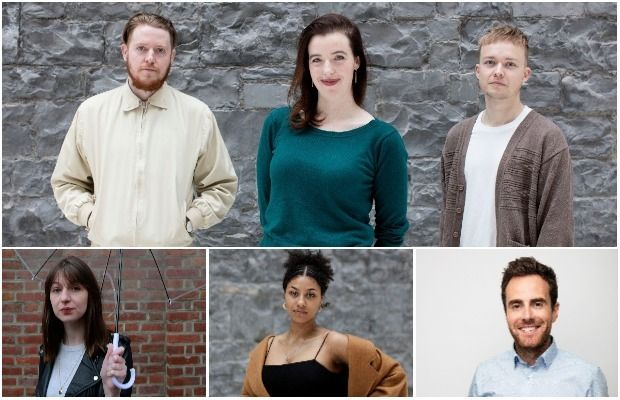 Media (clockwise from main): Craig Connolly, Sinead O'Shea and Eric Davidson; Joe Molloy; Karen Miano and Sally Rooney. Photograph: Alan Betson