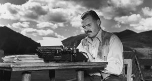 "Ernest Hemingway: ""Always stop while you are going good."" Photograph: Lloyd Arnold/Hulton Archive/Getty Images"