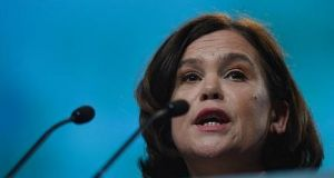Mary Lou McDonald:  Everyone knows the leadership handover to her is a foregone conclusion. Photograph: Getty Images