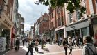 Grafton Street, Dublin: Waterstones MD James Daunt points out that online retailers don't pay commercial rates because they don't have shops, but VAT is meant to be charged on all purchases. Photograph: Matt Kavanagh
