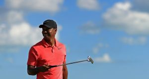 Tiger Woods will begin his season at the Farmers Insurance Open at Torrey Pines. Photograph:  Mike Ehrmann/Getty Images