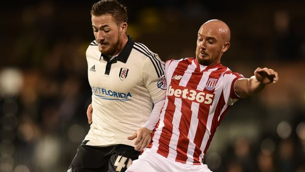 Fulham's Ross McCormack (left) and Stephen Ireland. Ireland has spent the best part of two years working on his rehabilitation from a double leg fracture. Photograph: Getty Images