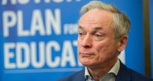 "Minister for Education Richard Bruton's plans  for removing the ""Baptism barrier"" have drawn criticism from Catholic groups who fear they will lose out under the measure. Photograph: Brenda Fitzsimons/ The Irish Times"