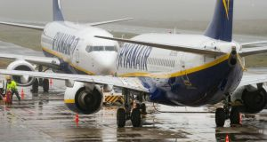 Ryanair filled 12 million more seats in 2017 than a year earlier, while second-ranked EasyJet said Friday that it flew 7.2 million more passengers in the period. Photograph: AFP/Getty Images