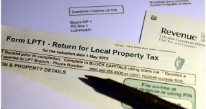 Local Property Tax forms sent out by Revenue. Photograph: Bryan O'Brien/The Irish Times
