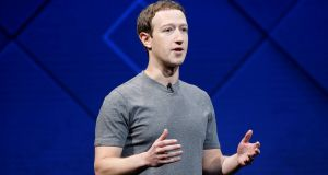 Personal challenge: Mark Zuckerberg says his resolution is to 'fix' Facebook. Photograph: Stephen Lam/Reuters.