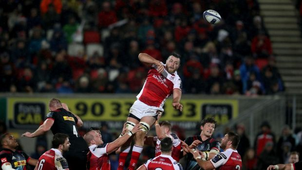 Alan O'Connor: was rejected by Leinster but now a regular in the Ulster line-up. Photograph: Bryan Keane/Inpho
