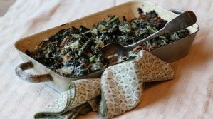 Celeriac and kale gratin