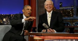 Veteran US talk show host David Letterman will return to television on January 12th in a new Netflix show where his first guest will be former president Barack Obama. File image: Jonathan Ernst/Reuters.