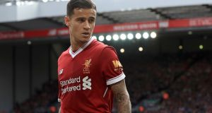 Liverpool playmaker Philippe Coutinho is to join Barcelona subject to a medical and personal terms being agreed, the Premier League club have announced. Photograph: Peter Byrne/PA