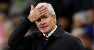 Stoke City manager Mark Hughes has been sacked. Photograph: Reuters