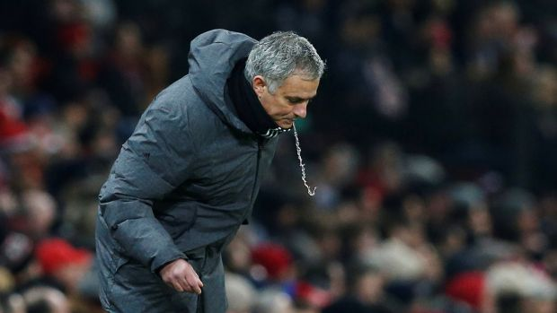 Manchester United manager Jose Mourinho has been in a war of words with the Chelsea manager. Photograph: Andrew Yates/Reuters