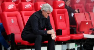 Stoke City manager Mark Hughes was sacked after a humiliating FA Cup loss to Coventry City. Photo: Scott Heppell/Reuters