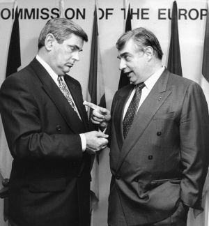 26/06/1993: With Ray MacSharry, former EC agriculture commissioner. Photograph: Jack McManus/The Irish Times