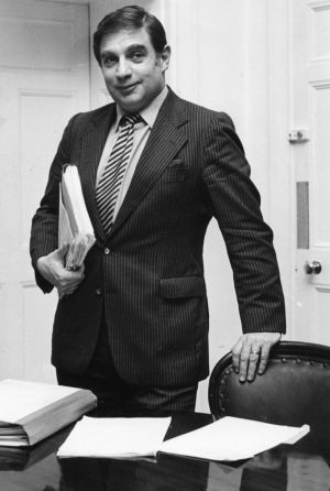 30/01/1982: The attorney general in his office.  Photograph: Jack McManus/The Irish Times
