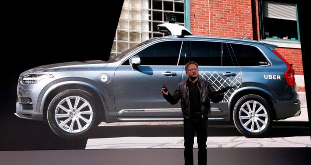 Nvidia Chief Executive Jensen Huang Said And Uber Will Partner To Build Self Driving