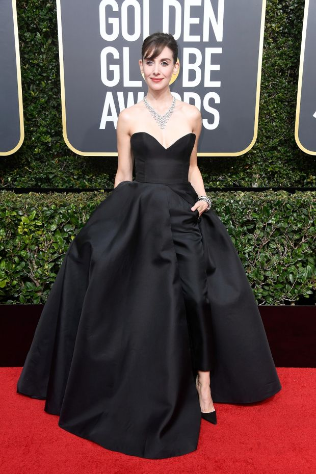 Alison Brie at the 75th Annual Golden Globe Awards. Photograph: Frederick M Brown/Getty Images