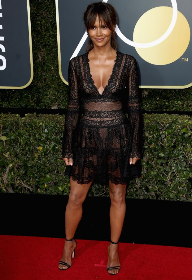 Halle Berry at the 75th Annual Golden Globe Awards. Photograph: Frederick M Brown/Getty Images