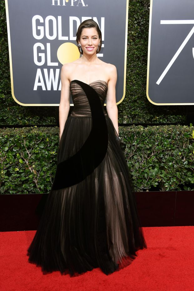 Jessica Biel at the 75th Annual Golden Globe Awards. Photograph: Frederick M Brown/Getty Images