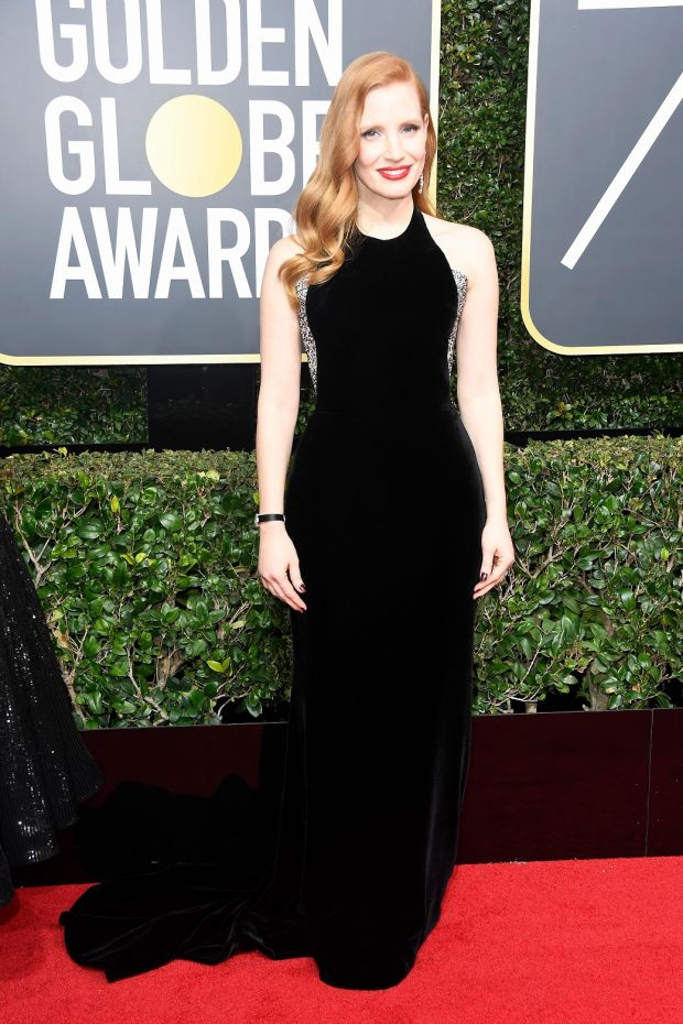Jessica Chastain at the 75th Annual Golden Globe Awards. Photograph: Frederick M Brown/Getty Images