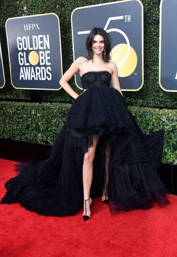 Kendall Jenner at the 75th Annual Golden Globe Awards. Photograph: Frederick M Brown/Getty Images