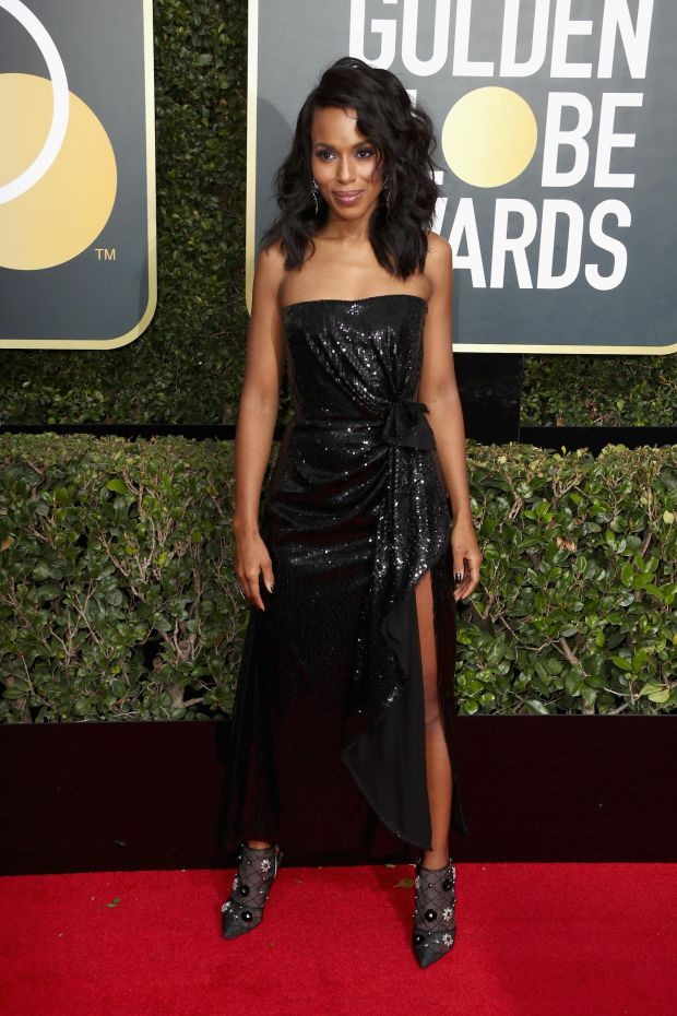 Kerry Washington at the 75th Annual Golden Globe Awards. Photograph: Frederick M Brown/Getty Images