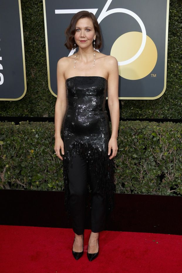Maggie Gyllenhaal at the 75th Annual Golden Globe Awards. Photograph: Frederick M Brown/Getty Images