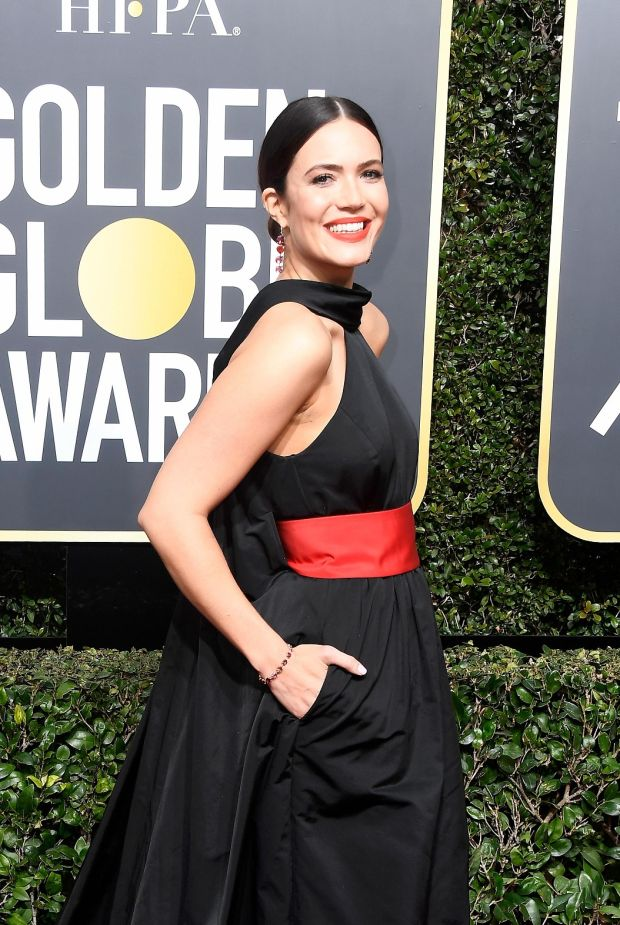 Mandy Moore at the 75th Annual Golden Globe Awards. Photograph: Frederick M Brown/Getty Images