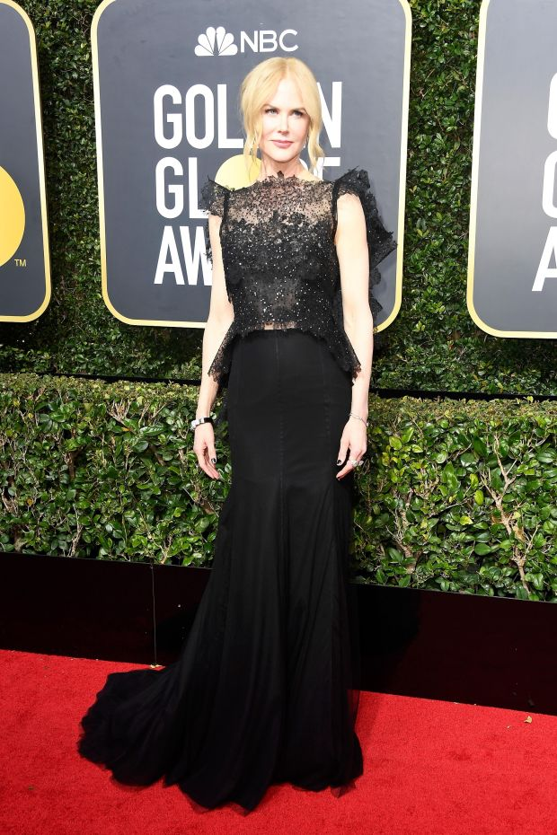Nicole Kidman at the 75th Annual Golden Globe Awards. Photograph: Frederick M Brown/Getty Images