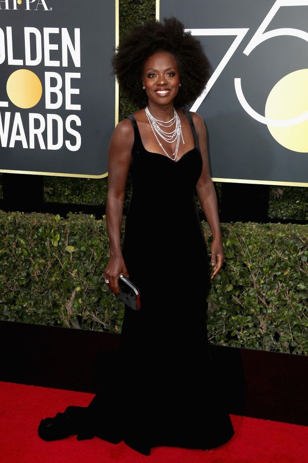 Viola Davis at the 75th Annual Golden Globe Awards. Photograph: Frederick M Brown/Getty Images