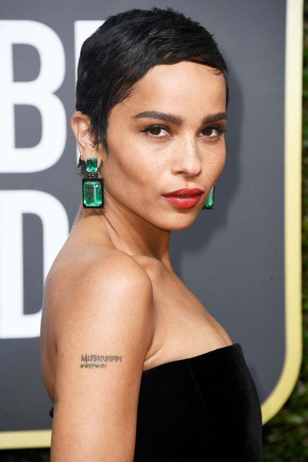 Zoe Kravitz at the 75th Annual Golden Globe Awards. Photograph: Frederick M Brown/Getty Images