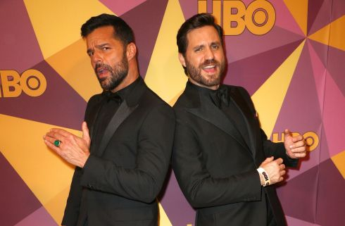 Ricky Martin and Jwan Yosef  at the HBO after party in Los Angles. Photograph: Frederick M. Brown/Getty Images