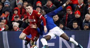 Liverpool's Andrew Robertson has been in impressive form. Photograph: Phil Noble/Reuters