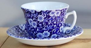 'I inherited her dishes when she died. They are Burleigh's Blue Calico pattern'