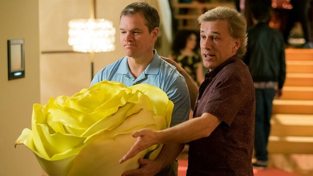 Matt Damon and Christoph Waltz in Downsizing. Photograph: George Kraychyk/Paramount Pictures