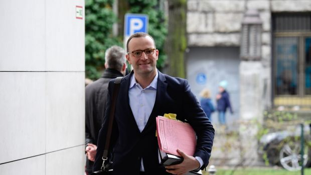 Jens Spahn, CDU: Germany's most prominent homosexual politician recently married his partner but his political career is built on traditional value conservatism. Photograph: AFP/ Tobias Schwarz