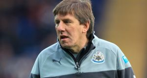 Peter Beardsley  met club officials on Monday. Photograph: Mike Egerton/PA Wire