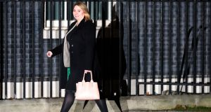 Karen Bradley leaves 10 Downing Street on Monday. In her first statement as Northern Secretary, Ms Bradley said restoring the Executive was her top priority.  Photograph: Daniel Leal-Olivas/AFP/Getty Images