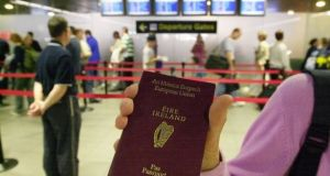 Irish citizens have visa-free access to 173 countries, along with Portugal, the United States and South Korea.  Photograph: Alan Betson